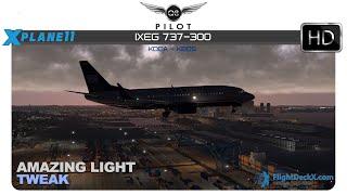 [X-Plane] IXEG 737-300 | KDCA ✈ KBOS | w/Amazing Light Tweak