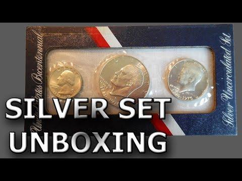1976 U.S. Silver Bicentennial Set Unboxing