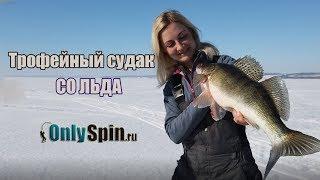 Ловля трофейного судака зимой со льда  Катя Татуревич ловит  #OnlySpin