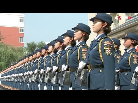 Female Soldiers Train for Beijing Military Parade