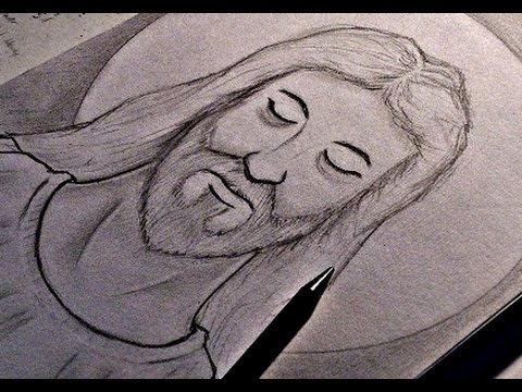 How to draw jesus christ youtube