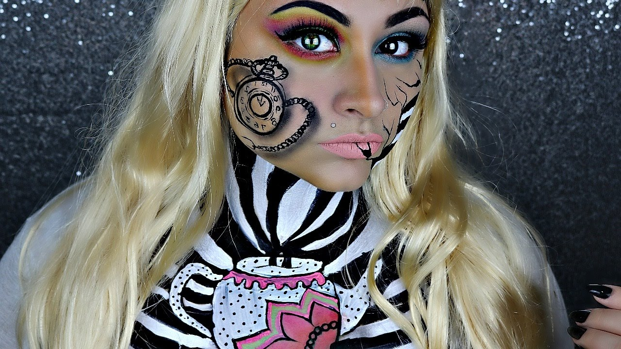 mad alice in wonderland halloween makeup tutorial | beautybyjosiek