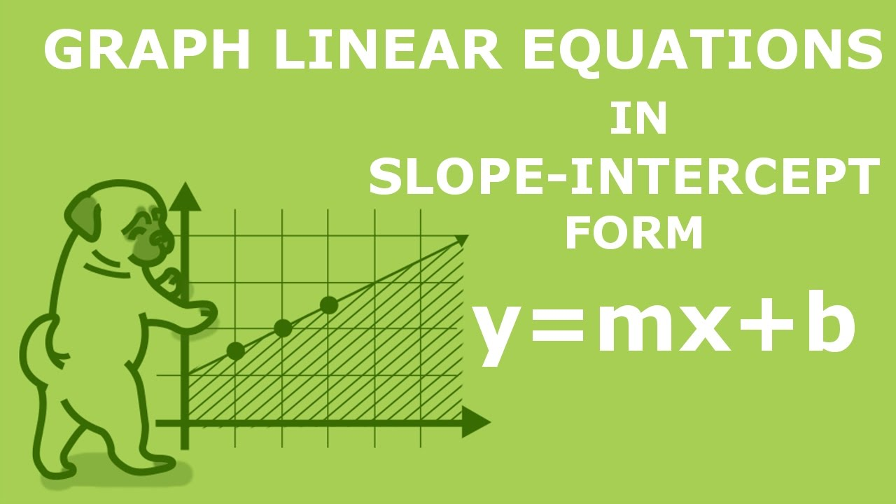 graphing linear equations in slope intercept form ymxb graphing linear equations in slope intercept form ymxb with negative m in 90 seconds youtube falaconquin