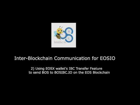 Using EOSX IBC Transfer feature between BOS and EOS