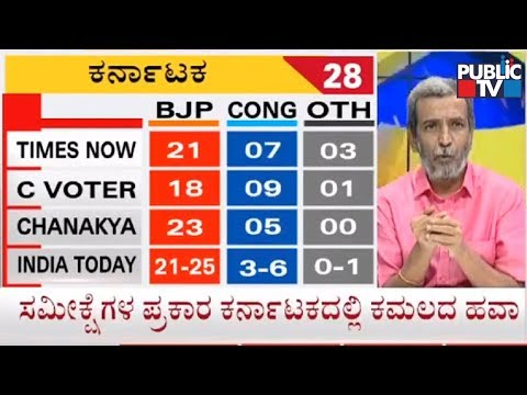 Exit Polls 2019 | BJP Gets Majority In Karnataka | Times Now, C Voter, Chanakya, India Today Survey