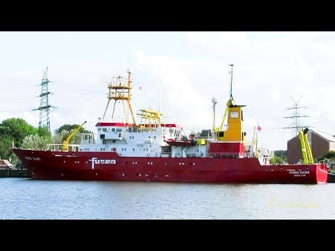 research & survey vessel FUGRO GAUSS ZDIA4 IMO 7824883 Forschungsschiff Emden