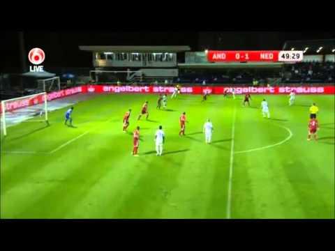 Van Persie scores an amazing goal against Andorra!