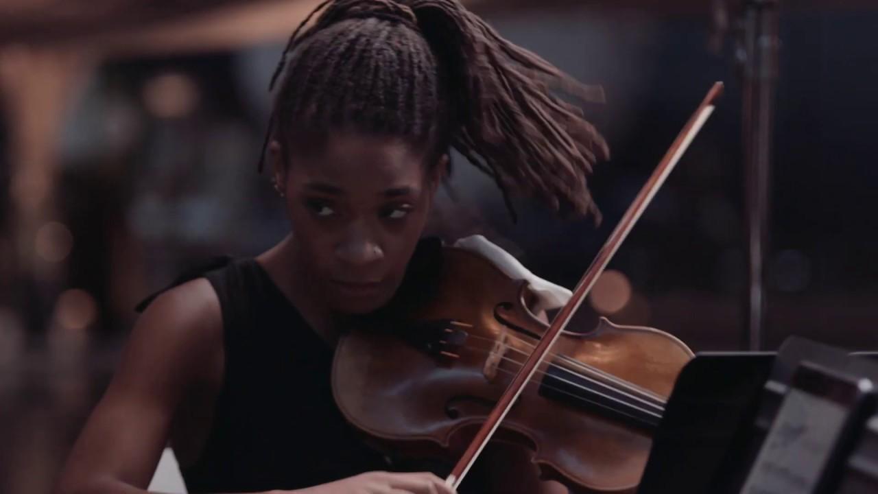 """""""Moonshot"""" for String Quartet performed at Steven  F. Udvar-Hazy Center"""