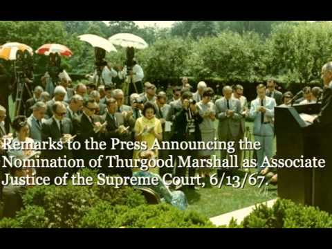 Announcing the Nomination of Thurgood Marshall as Associate Justice of the Supreme Court, 6/13/67