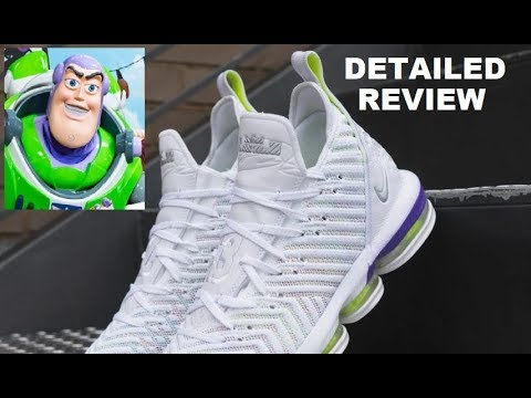 c6304fe4f3ad1 Nike Lebron 16 Buzz Lightyear Toy Story Sneaker Detailed Look Review  #toystory4 #lebron