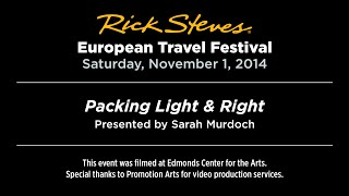 Packing Light & Right with Sarah Murdoch