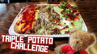 Loaded Baked Potatoes Challenge w/ Cheesesteak, Chicken, & Pulled Pork!!