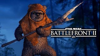 Star Wars Battlefront 2 - Funny Moments #12 Ewok Hunt