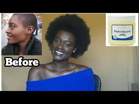 WHAT PETROLEUM JELLY DID TO MY HAIR!! 1 YEAR POST BIG CHOP