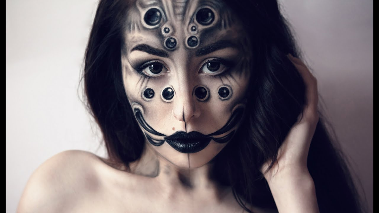 Creepy Spider Halloween Makeup Tutorial By Margo - YouTube