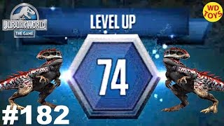 Jurassic World - The Game Episode 182 Battle Stage 74 Dinosaurs Ludia  vs Indominus Gameplay HD