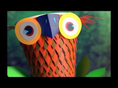 Blender Modeling Tutorial(Time lapse) - Paper-cup owl