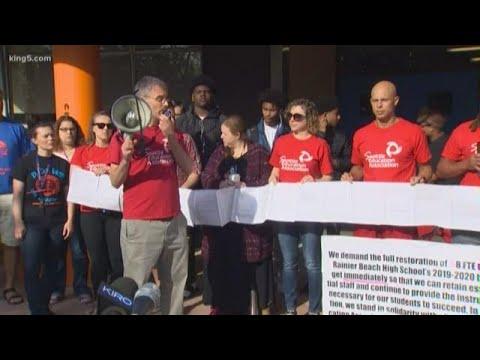 Rainier Beach High School community protests funding inequity