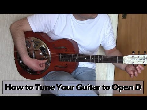 how to tune your guitar to open d tuning