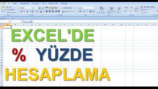 Excel Dersleri - Excelde yüzde hesaplama