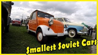 Ugliest and Weirdest Old Soviet Cars SMZ S3A (СМЗ С3А) Review. Most Smallest Soviet Cars