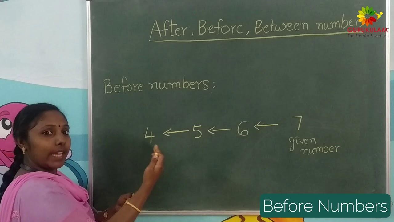 Gurukulam | Homeschooling | After, Before & Between numbers
