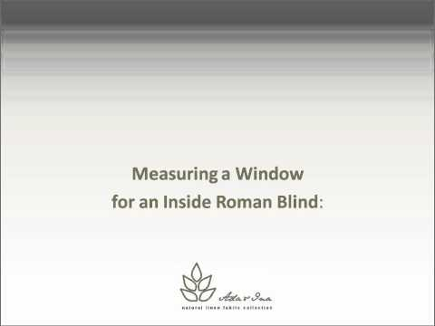 How to measure Linen Blinds - and then order lovely linen fabric curtains and blinds