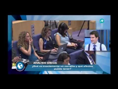 Pablo Gimeno participando como analista económico en el Telediario. Tema: Crisis Griega