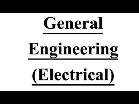 Electrical Engineering mcq on # General Engineering Based