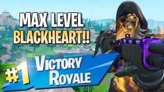 Max Level Blackheart Skin!! 11 Elims!! - Fortnite: Battle Royale Gameplay