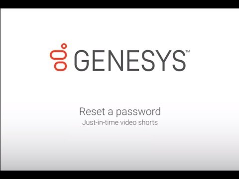Genesys University: Reset a Password in Interaction Administrator