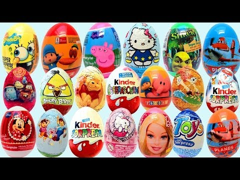 Surprise Eggs Kinder Surprise Huevos Kinder Sorpresa Travel Video
