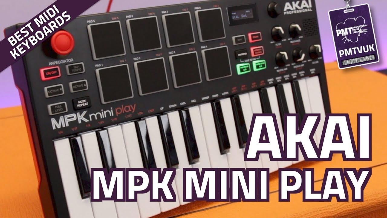 Akai MPK Mini Play MIDI Controller Keyboard (With Onboard Sounds) - Review  & Demo
