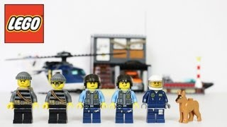 Lego Helicopter Arrest Review, Unboxing, Time Lapse Build City 60009