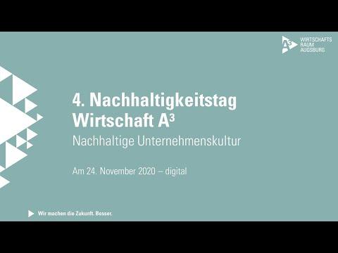 Live-Stream vom Nachhaltigkeitstag Wirtschaft A³ am 24.11.2020