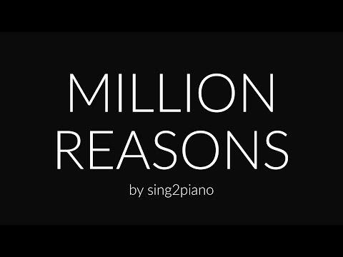 Million Reasons (Piano Karaoke) Lady Gaga