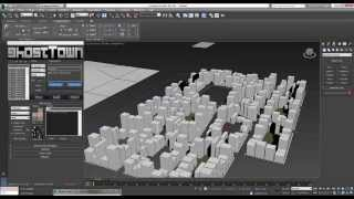 How to Make cityscapes in 3ds Max by using the greeble and ghost town plugins