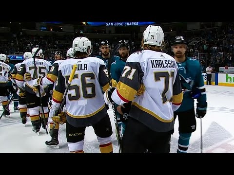 Golden Knights shake hands with Sharks as series ends in Game 6