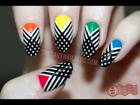Have I Crossed the Line? Nail Art Tutorial - Striping Tape/Striped Design - Have I Crossed The Line? Nail Art Tutorial - Striping Tape/Striped