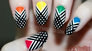 Have I Crossed the Line?  Nail Art Tutorial - Striping Tape/Striped Design