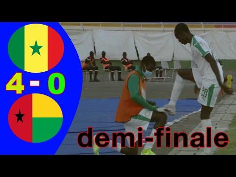Sénégal vs Guinée-Bissau  (4-0) Résumé de la rencontre :demi-finale Tournoi UFOA (A) U17 (2021)