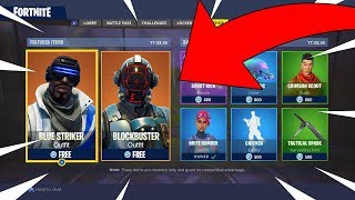 FORTNITE NEW FREE SKINS! INSANE NEW FREE BLUE STRIKER AND BLOCKBUSTER SKIN!