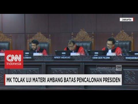 Uji Materi Presidential Threshold Ditolak Mahkamah Konstitusi