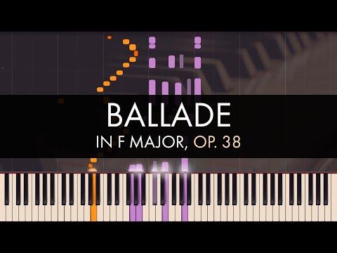 Frédéric Chopin - Ballade No. 2 in F Major, Op. 38 (Synthesia)