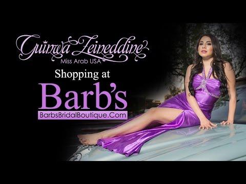 Miss Arab USA, Guinwa Zeineddine @ Barb's Bridal Boutique