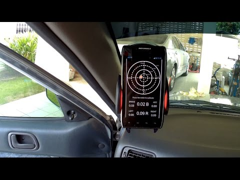 Car G-Force Meter Traction Circle App Android Tutorial With Real Driving Trail Braking Helmet Cam
