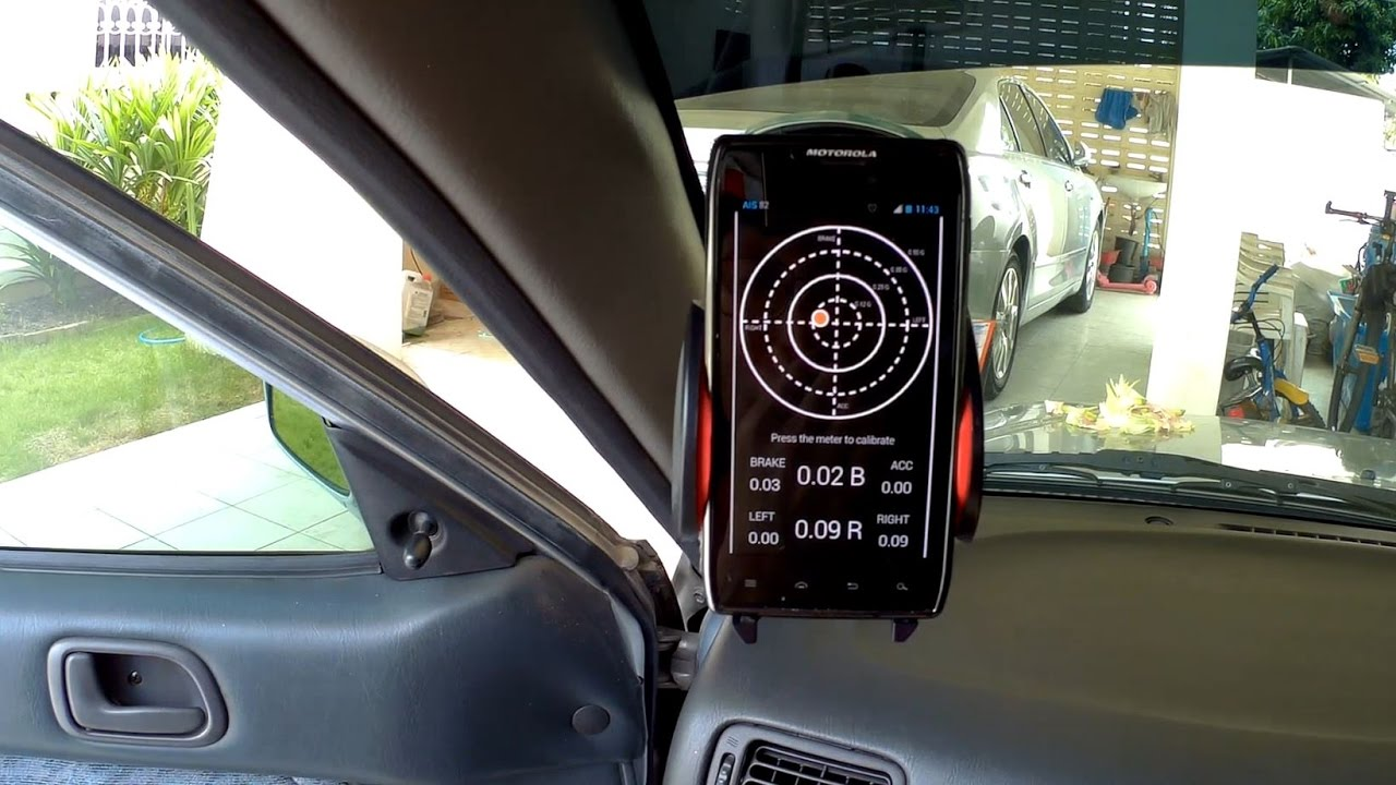 Car G Force Meter Traction Circle App Android Tutorial With Real