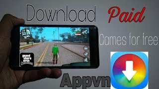 How to Download paid games for free || Appvn app || In Hindi || All gta games
