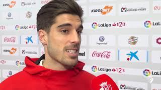 """Nacho Vidal: """"Teníamos ganas de dejar la portería a cero""""."""