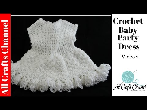Crochet baby party dress Video One